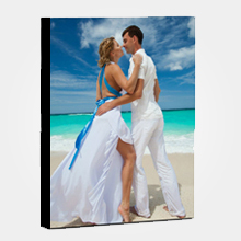 Wall Display/Canvas Gallery Wrap/Portrait/Black On Border