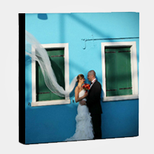Wall Display/Canvas Gallery Wrap/Square/Black On Border