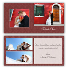 Press Printed Cards/Folded Card/Thank You Cards/Spine On Left/018 Square