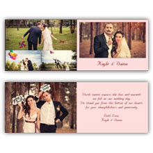 Press Printed Cards/Folded Card/Thank You Cards/Spine On Left/005 Landscape