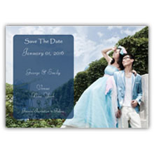 Press Printed Cards/Flat Card/Save The Date/001 Landscape