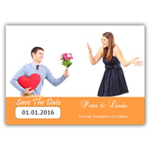 Press Printed Cards/Flat Card/Save The Date/002 Landscape