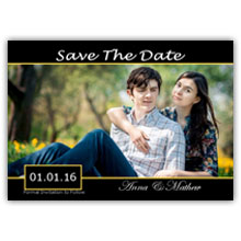 Press Printed Cards/Flat Card/Save The Date/003 Landscape