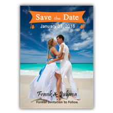 Press Printed Cards/Flat Card/Save The Date/003 Portrait
