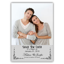 Press Printed Cards/Flat Card/Save The Date/004 Portrait