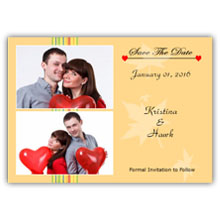 Press Printed Cards/Flat Card/Save The Date/005 Landscape