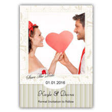 Press Printed Cards/Flat Card/Save The Date/005 Portrait