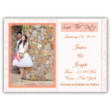 Press Printed Cards/Flat Card/Save The Date/007 Landscape