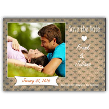 Press Printed Cards/Flat Card/Save The Date/008 Landscape