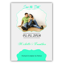 Press Printed Cards/Flat Card/Save The Date/009 Portrait