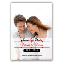 Press Printed Cards/Flat Card/Save The Date/010 Portrait