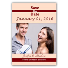 Press Printed Cards/Flat Card/Save The Date/013 Portrait
