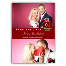 Press Printed Cards/Flat Card/Save The Date/014 Portrait