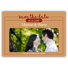 Press Printed Cards/Flat Card/Save The Date/015 Landscape