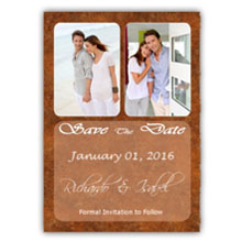 Press Printed Cards/Flat Card/Save The Date/016 Portrait