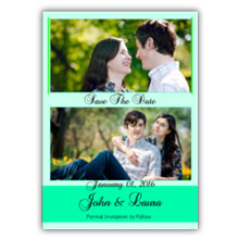 Press Printed Cards/Flat Card/Save The Date/017 Portrait