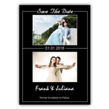 Press Printed Cards/Flat Card/Save The Date/018 Portrait