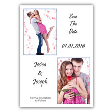 Press Printed Cards/Flat Card/Save The Date/019 Portrait