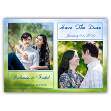 Press Printed Cards/Flat Card/Save The Date/020 Landscape