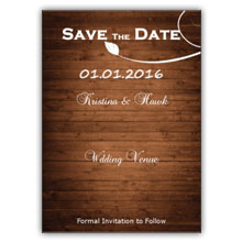 Press Printed Cards/Flat Card/Save The Date/021 Portrait