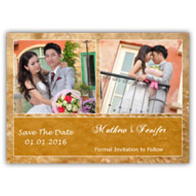 Press Printed Cards/Flat Card/Save The Date/022 Landscape