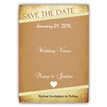 Press Printed Cards/Flat Card/Save The Date/022 Portrait