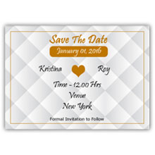 Press Printed Cards/Flat Card/Save The Date/024 Landscape