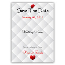 Press Printed Cards/Flat Card/Save The Date/024 Portrait