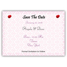 Press Printed Cards/Flat Card/Save The Date/025 Landscape