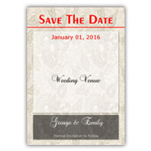 Press Printed Cards/Flat Card/Save The Date/025 Portrait