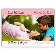 Press Printed Cards/Flat Card/Save The Date/027 Landscape