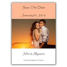 Press Printed Cards/Flat Card/Save The Date/027 Portrait
