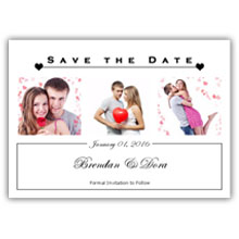 Press Printed Cards/Flat Card/Save The Date/030 Landscape