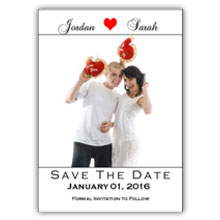 Press Printed Cards/Flat Card/Save The Date/030 Portrait