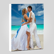 Wall Display/Canvas Gallery Wrap/Portrait/White On Border